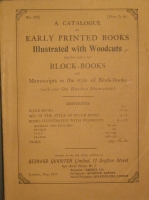 Portada de libro A Catalogue of Early Printed Books. Illustrated with Woodcuts Together...